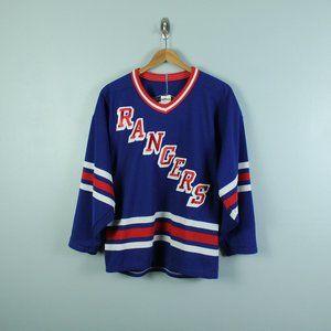 vintage 1990s maska new york rangers hockey jersey